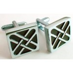 Celtic Cross Cufflinks, Polished